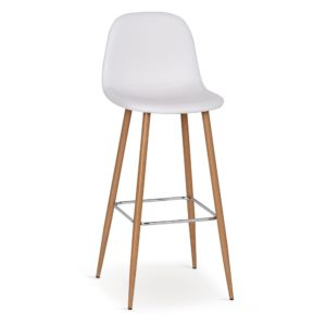 Balts bāra krēsls